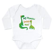 My Memaw Loves Me Dino Long Sleeve Infant Bodysuit