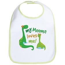 My Meema Loves Me Dinosaur Bib