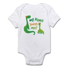 My Mema Loves Me Dinosaur Infant Bodysuit