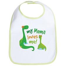 My Mema Loves Me Dinosaur Bib