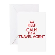 Keep calm I'm a Travel Agent Greeting Cards