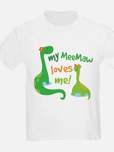 My MeeMaw Loves Me Dinosaur T-Shirt
