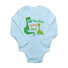 My MawMaw Loves Me Din Long Sleeve Infant Bodysuit