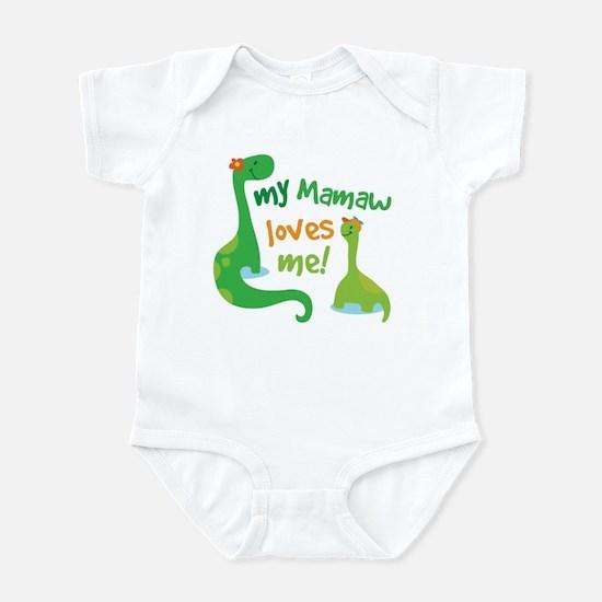 My Mamaw Loves Me Dinosaur Infant Bodysuit