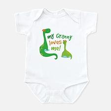 My Granny Loves Me Dinosaur Infant Bodysuit