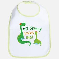 My Granny Loves Me Dinosaur Bib