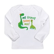 My Granny Loves Me Dino Long Sleeve Infant T-Shirt