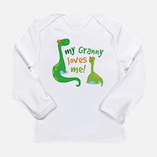 My Granny Loves Me Dino Long Sleeve Infant T-Shirt