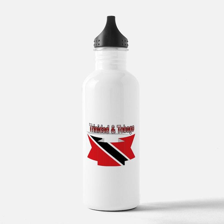Trinidad flag ribbon Water Bottle