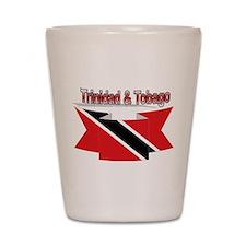Trinidad flag ribbon Shot Glass