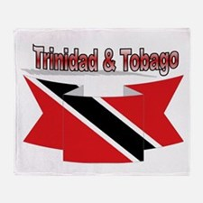 Trinidad flag ribbon Throw Blanket