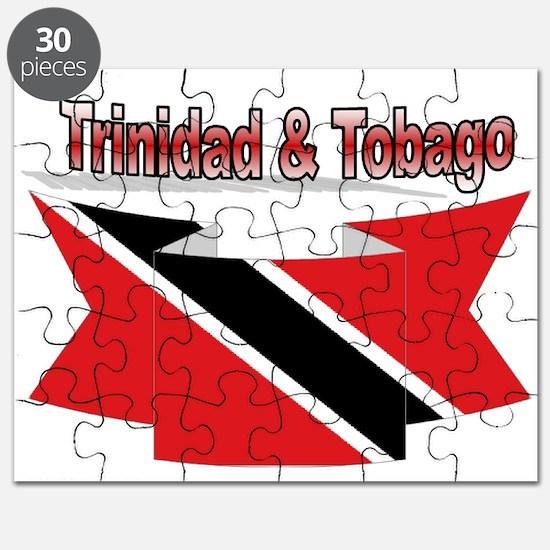 Trinidad flag ribbon Puzzle