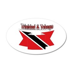 Trinidad flag ribbon Wall Decal