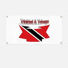 Trinidad flag ribbon Banner