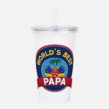 World's Best Papa Acrylic Double-wall Tumbler