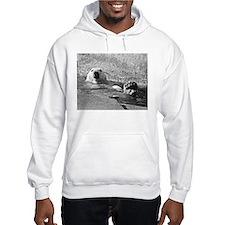 Polar bear swimming Hoodie