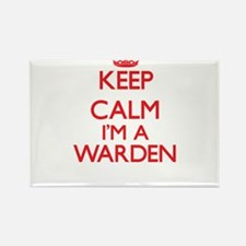 Keep calm I'm a Warden Magnets