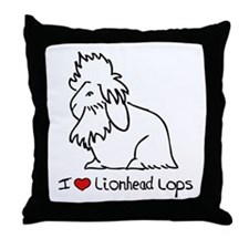 I Love Lionhead Lops Throw Pillow