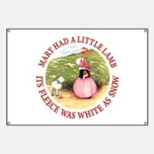 MARY HAD A LITTLE LAMB Banner