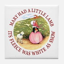 MARY HAD A LITTLE LAMB Tile Coaster