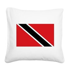 Trinidad flag Square Canvas Pillow