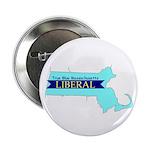 """True Blue Mass. LIBERAL - 2.25"""" Button (10 pack)"""