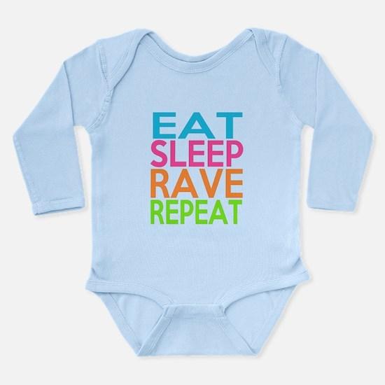 Eat Sleep Rave Repeat Neon Funny Body Suit