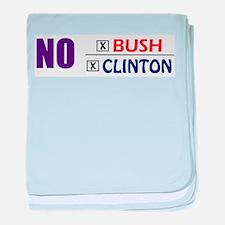 No Bush No Clinton baby blanket