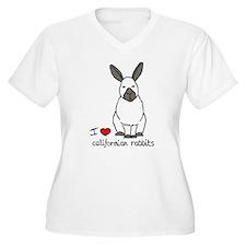 I Love californian Rabbits T-Shirt
