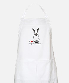 I Love californian Rabbits BBQ Apron
