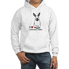 I Love californian Rabbits Jumper Hoody