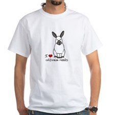 I Love californian Rabbits White T-Shirt
