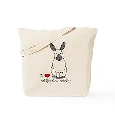 I Love californian Rabbits Tote Bag