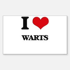 I love Warts Decal