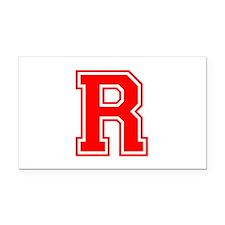 R-var red Rectangle Car Magnet