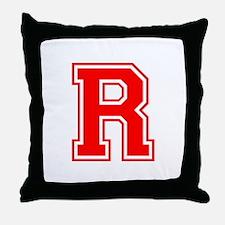 R-var red Throw Pillow