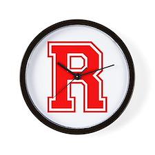 R-var red Wall Clock