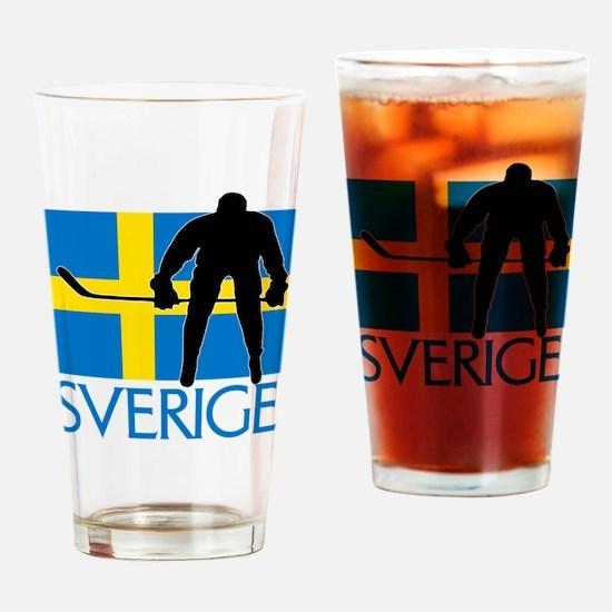 Sverige Ishockey Drinking Glass