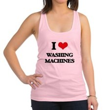 I love Washing Machines Racerback Tank Top
