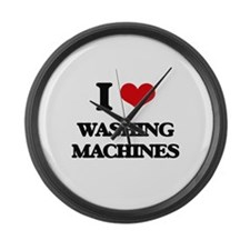 I love Washing Machines Large Wall Clock