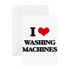 I love Washing Machines Greeting Cards