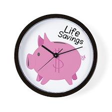 Life Savings Wall Clock
