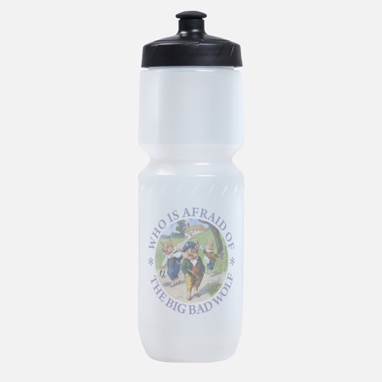Who Is Afraid Of The Big Bad Wolf Sports Bottle