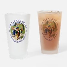 Who Is Afraid Of The Big Bad Wolf Drinking Glass