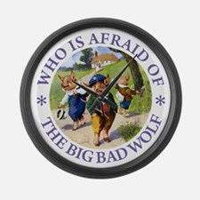 Who Is Afraid Of The Big Bad Wolf Large Wall Clock