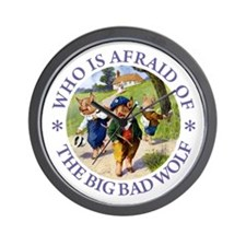 Who Is Afraid Of The Big Bad Wolf Wall Clock