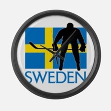 Sweden Hockey Large Wall Clock