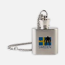 Sweden Hockey Flask Necklace