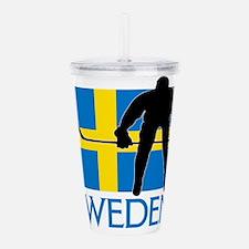 Sweden Hockey Acrylic Double-wall Tumbler