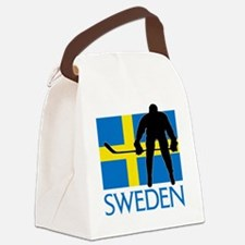 Sweden Hockey Canvas Lunch Bag